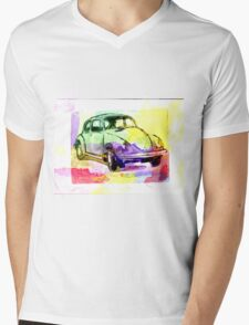 Retro reverse Mens V-Neck T-Shirt