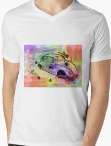 Retro Love Mens V-Neck T-Shirt