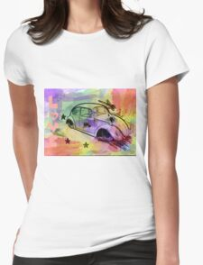Retro Love Womens Fitted T-Shirt