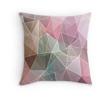 Abstract polygonal print textile fabric, low poly textured triangle shapes in random pattern, trendy lowpoly print Throw Pillow