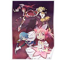 Madoka Magica Group Poster