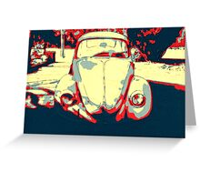 Retro Ink Bug Greeting Card