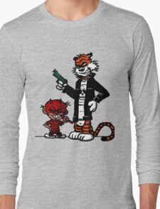 Calvin and Hobbes Gangsta Long Sleeve T-Shirt