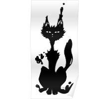 Diabolo Cat Portrait Poster