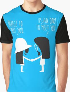 Peace to Meet You Funny Tshirt Graphic T-Shirt