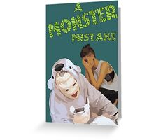 A Monster Mistake Feature Film Official Poster Greeting Card