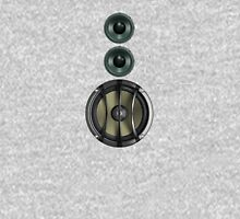 Massive Sound Bass Music Speaker Tee - White Cell Phone Cover Unisex T-Shirt