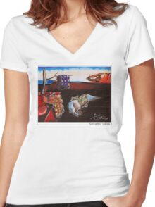 Salvador Dalek Women's Fitted V-Neck T-Shirt