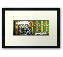 The Dalek Witness Framed Print