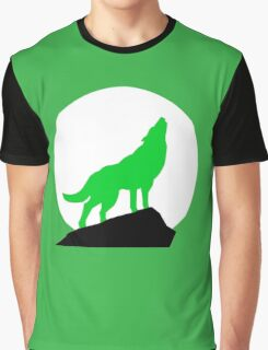 Green Wolf Graphic T-Shirt