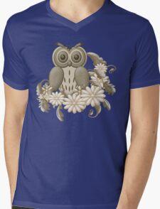 Mr Owl Mens V-Neck T-Shirt