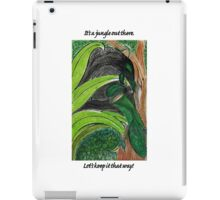 It's a jungle out there iPad Case/Skin