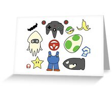 Mario Kart Item Design  Greeting Card
