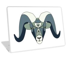 Head of the wild ram with pattern Laptop Skin