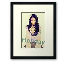 Korean top star songjihyo holiday Framed Print