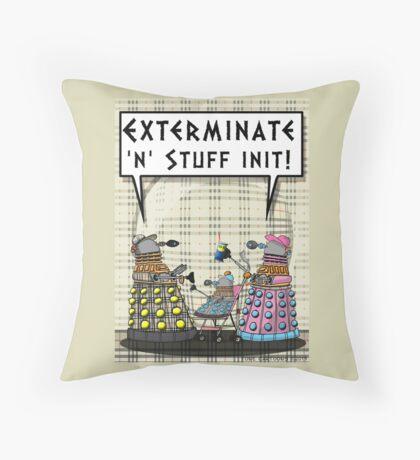 Chav Daleks Throw Pillow