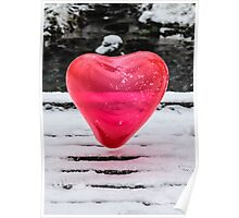 Snow Heart Floating Poster