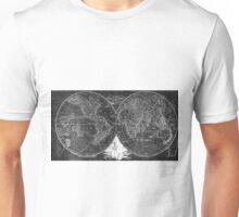 World Map (1811) Black & White Unisex T-Shirt