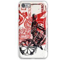 Black & Red Print - Flower Wheels iPhone Case/Skin