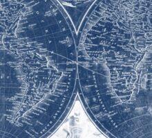 World Map (1811) Blue & White  Sticker