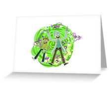 rick and morty portal Greeting Card