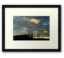Sunset and Clouds Framed Print
