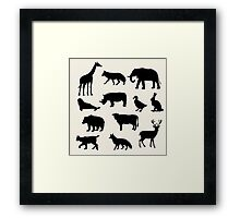 animals icons,vector illustration Framed Print