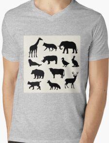 animals icons,vector illustration Mens V-Neck T-Shirt