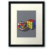 Emotional cubes. Framed Print