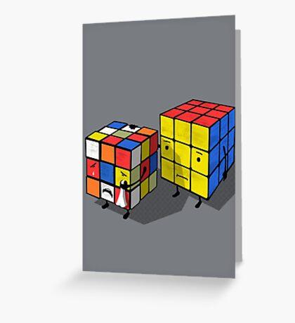 Emotional cubes. Greeting Card