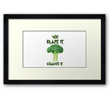 Broccoli 420 Framed Print