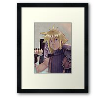 Final Fantasy VII - Cloud Strife Tribute Framed Print