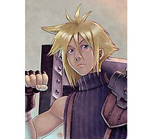 Final Fantasy VII - Cloud Strife Tribute Photographic Print