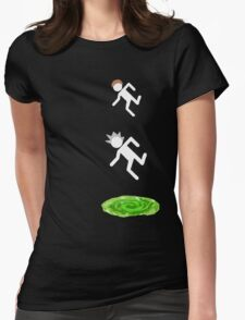 rick and morty 3 Womens Fitted T-Shirt