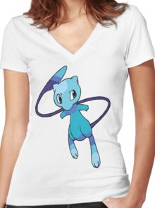 Shiny Mew Women's Fitted V-Neck T-Shirt