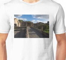 Herculaneum Ruins - Sun and Shade Rough Stonewall Perspective Unisex T-Shirt