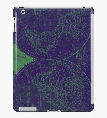 World Map (1811) Blue & Green iPad Case/Skin