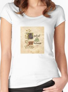 Charmed- book of shadows Women's Fitted Scoop T-Shirt