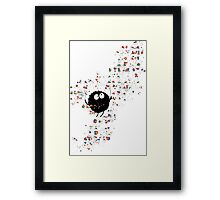 Blowing rainbow bubbles Framed Print