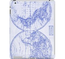 Vintage Map of The World (1857) White & Blue iPad Case/Skin