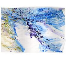 One year of joy, another of comfort, and all rest of content - Original Wall Modern Abstract Art Painting Original mixed media Poster