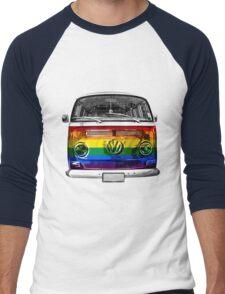 VW van Rainbow Men's Baseball ¾ T-Shirt