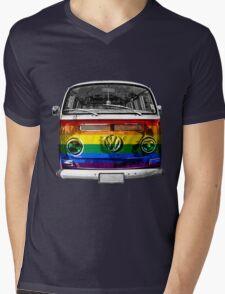 VW van Rainbow Mens V-Neck T-Shirt