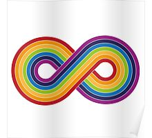 Infinity Rainbow on light background Poster