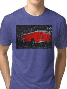 Red combi Volkswagen side _edited version Tri-blend T-Shirt