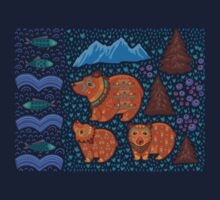 National park and the Three Bears Kids Tee