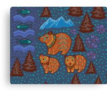 National park and the Three Bears Canvas Print