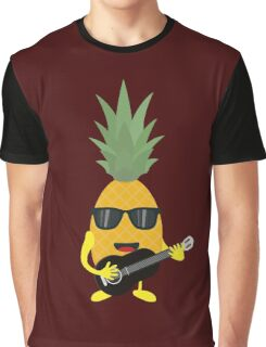 Rock 'n' Roll Pineapple Graphic T-Shirt