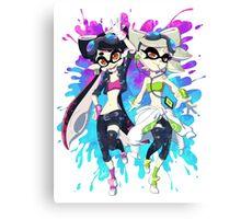 Grand Prix Squid Sisters Canvas Print