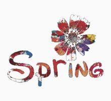 Spring flower One Piece - Short Sleeve